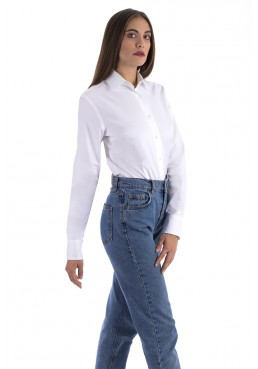 WOMAN SLIM FIT SHIRT IN STRETCH COTTON