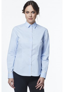 Woman slim fit shirt in cotton